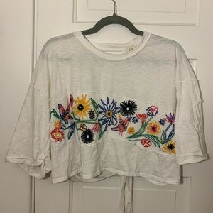 We The Free cropped floral shirt